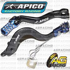 Apico Black Blue Rear Brake & Gear Pedal Lever For Yamaha YZ 85 2006 Motocross