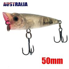 1 x  WHITING POPPER FISHING LURES HARD BODY 50MM POPPERS BREAM FLATHEAD TOPWATER