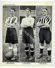(Ga1686) Topical Times, Triple Footballers, Sheff Wed, Spurs, Newcastle 1937 VG