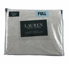 RALPH LAUREN (FULL) Sheet Set 4 Piece (Beige/ Cream PAISLEY) Flat,Fitted,Cases