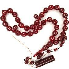 Turkish Amberoid Worry Beads SIKMA Kehribar Tesbih Prayer Tasbih Misbaha Eid 908