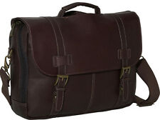 Kenneth Cole Reaction Leather Show Business Flapover Computer Case - Brown