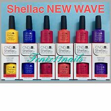CND Shellac NEW WAVE 2017 6-pc Set ~ Banana Blue Ecstasy Jelly Pink Violet NIB