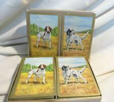Duratone Vintage Boxed Plastic Coated Playing Cards Hunting Dogs Pointers