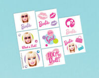 BARBIE Tattoos Party Favours Loot Lolly Bag Birthday