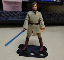 "3.75"" STAR WARS Galactic Battle Obi-Wan OBIWAN Kenobi Action Figure & Lightsaber"