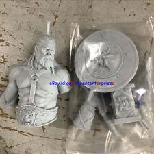 1/12 Old Man Warrior Bust Unpainted Resin Model Kit Unassembled Garage Kit GK