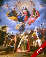 MARTYRDOM OF ST MARGARET & HEAVENS OPEN PAINTING CATHOLIC ART REAL CANVAS PRINT