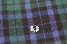Fred Perry UK, 100% Lambswool, Black Watch Tartan Scarf