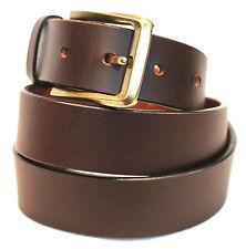 Quality Genuine Full Grain Leather Men's Jeans Belt Australian SELLER 41012 Brown 34 Inches