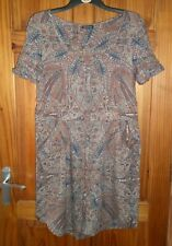 WAREHOUSE MUTED TONE PRINT SUMMER DRESS SIZE 14