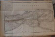 1838 Carte de la Province d'Alger Général PELET