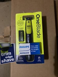 Philips Norelco OneBlade Hybrid Wet/Dry Electric Trimmer/Shaver w/2 Combs Sealed