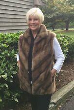 BRAND NEW  Luxurious Genuine Russian Sable Fur Vest S M 6 8 10 no mink fox