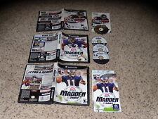 Madden 2002, NFL 2K3 & Madden 2005 Nintendo Gamecube Games