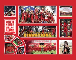 LIVERPOOL 2019 UEFA CHAMPIONS LEAGUE MEMORABILIA LIMITED EDITION FRAMED
