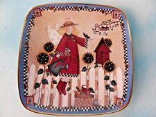Franklin Mint Debbie Mumm Porcelain Collectors Plate Sunflower Angel