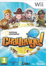 NATIONAL GEOGRAPHIC CHALLENGE for Nintendo Wii - with box & manual - PAL