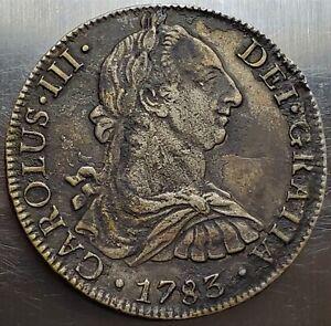 8 Reales 1783 FF Carlos III DEI·GRATIA Mexico Colonial SPANISH COLONY Saltwater