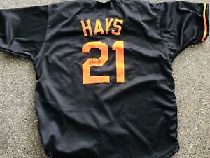 Austin Hays Signed Autographed Baltimore Orioles Jersey Beckett Coa Black V