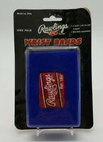 "Rawlings 4"" Glove Wristbands (10.16 cm) One Pair Blue Baseball Softball RW4 NIB"