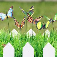25pcs Butterfly Stakes Outdoor Yard Flower Pot Bed Garden Decor ss