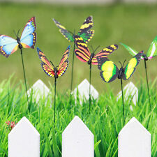 25pcs Butterfly Stakes Outdoor Yard Planter Flower Pot Bed Garden Decor &L/