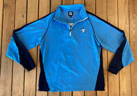 FJ Men's Long Sleeve Half zip Pullover top size M Blue B1