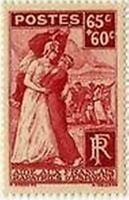 """FRANCE STAMP TIMBRE N° 401 """" RAPATRIES D ' ESPAGNE  65C+60C """"NEUF x TB"""