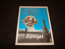 SUPERGIRL 1980 Oscar ad flying over Statue of Liberty Helen Slater Faye Dunaway
