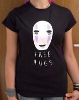 Studio Ghibli Spirited Away No Face free hugs Women's T-shirt