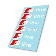 Audi A6 S Line S-Line Badge Brake Caliper Stickers Decals