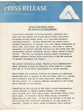 1975 Vintage Arista Records & Other Promotional Publicity Items: Monty Python