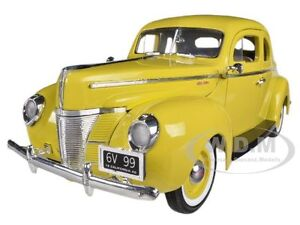 1940 FORD COUPE DELUXE YELLOW 1/18 DIECAST MODEL CAR BY MOTORMAX 73108