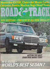 Road & Track Magazine Ford Mustang Mercedes Benz 450SE June 1973 FREE US S/H