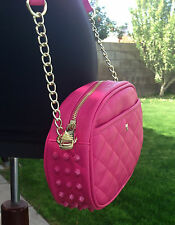 NWT Steve Madden Handbag Purse Crossbody Hot Pink berry Cross body Spike Bag