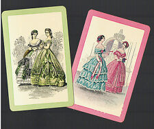 Playing Swap Cards 2  VINT  REGENCY LADIES  ALL DRESSED UP AWESOME   MINT  W200