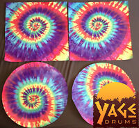 """20"""" Tie Dye Goat Skin Djembe Drum Head - You can't find these anywhere else!"""