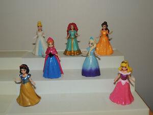 Polly Pocket Disney Magic Clip Elsa Anna Snow White Aurora Cinderella Lot!