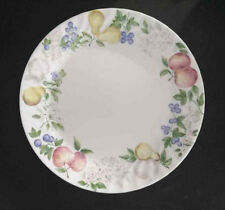 Corelle Chutney Bread and Butter Plates Swirl with GREEN APPLE PEAR IMAGES