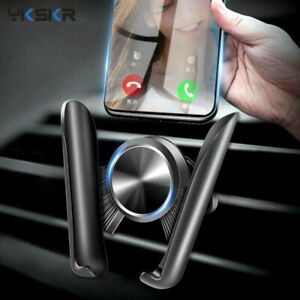 Car Phone Gravity Holder Stand Cell Air Vent Mount Support 360 Rotation Auto Gri