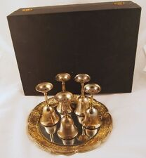 International Silver Company Silverplated 7 piece Platter with Goblets & Case
