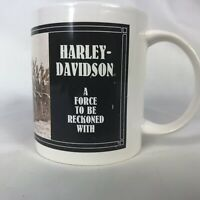 1992 Harley Davidson A Force To Be Reckoned With Coffee Mug Collectors Item !!!