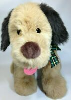 "Gund Dog Large Plush Toy Plaid Bow Big Huge Puppy Brown Stuffed Animal Rare 28"""
