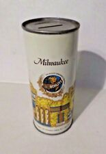 Vintage Milwaukee Jos Schlitz 16 oz Flat Top Beer Can Coin Bank