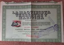 La Maquinista Terrestry Maritima - Spain -  1948 Share Certificate
