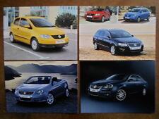 VOLKSWAGEN Orig Conjunto de 4 tarjetas de ventas UK MKT-VW Fox EOS Jetta Golf Gti Folleto