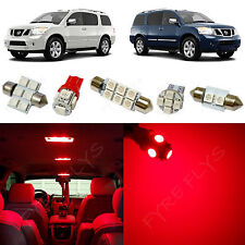 15x Red LED lights interior package kit for 2005-2014 Nissan Armada NA4R