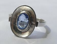 Kinderring hellblauer Stein 800 Silber Vintage 80er ring silver