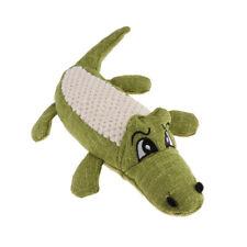 Squeaker Squeaky Sound Dog Chew Toy Pet Dog Puppy Plush Crocodile Green